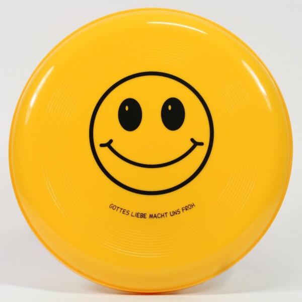 Spielzeug - Frisbee & Gottes Liebe macht uns froh
