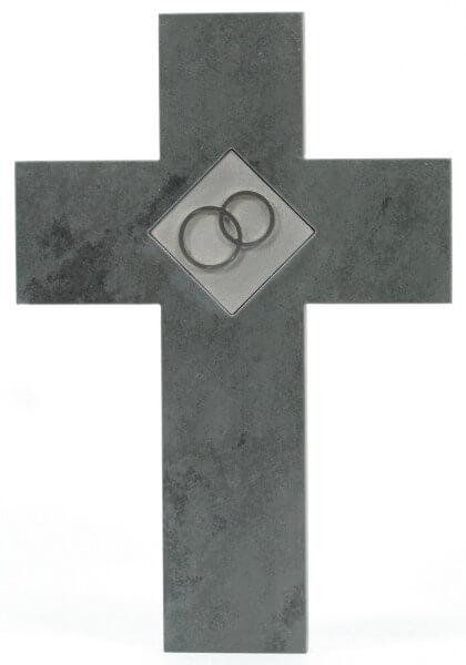 Schieferkreuz - Zwei Ringe