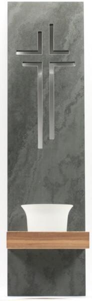Wandleuchter - Schiefer & Kreuzform