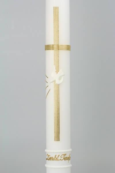 Taufkerze - Goldenes Kreuz