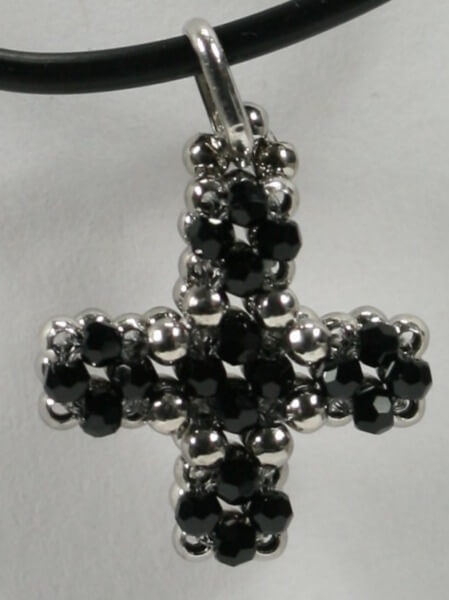 Halskette - Swarovski- Elemente & Silber- Schwarz