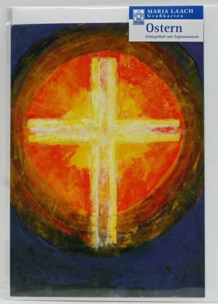 Osterkarte - Leuchtendes Kreuz