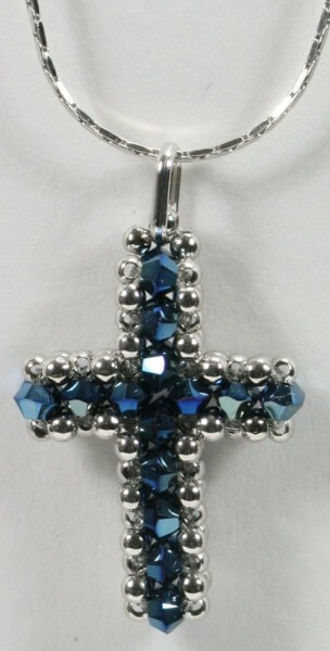 Silber- Kette - Swarovski- Elemente & Silber- Blau