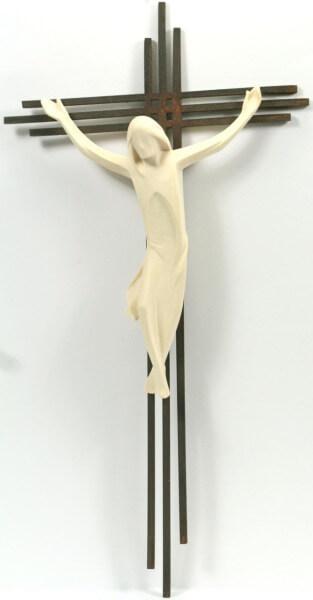 Schmuck - Kreuz m. Holz Korpus