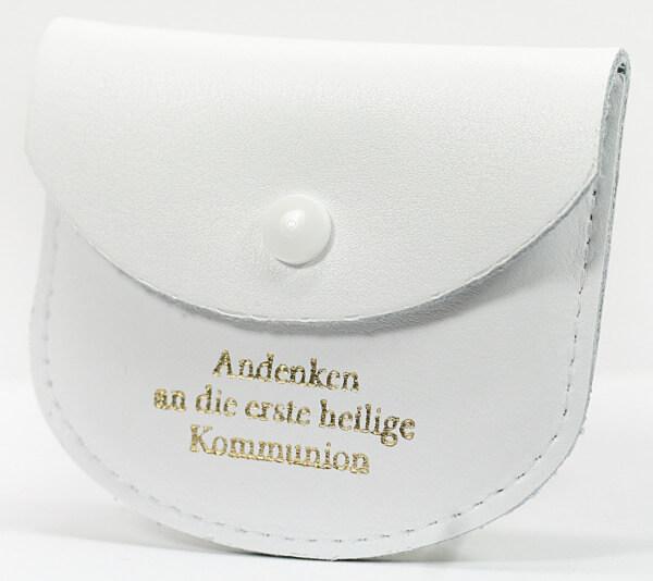Etui - Leder & Kommunion - Weiß 7 x 8 cm