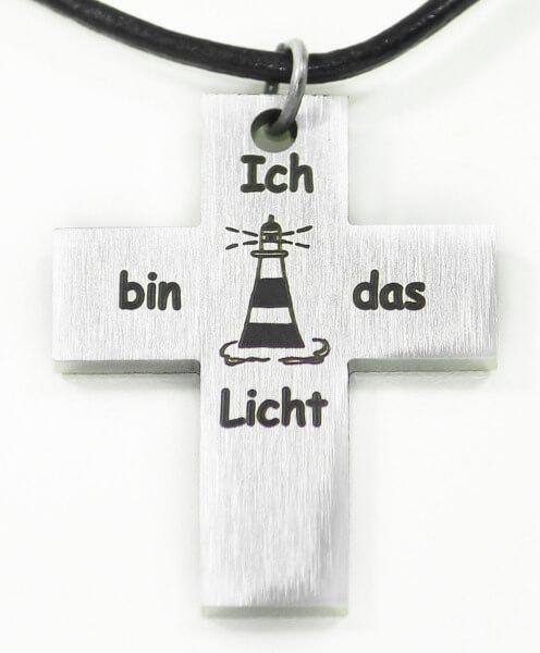 Halskette - Kreuz & Leuchtturm