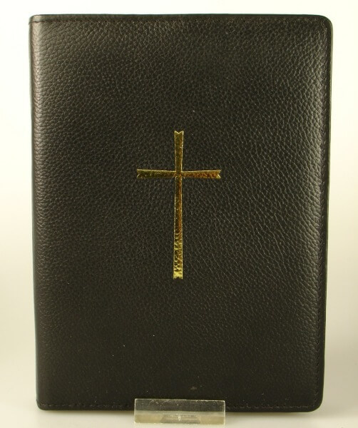 Gebetbuchhülle - Leder & Kreuz