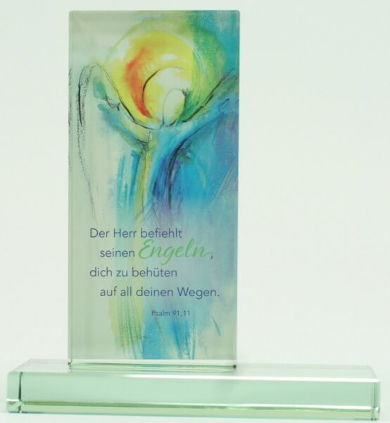 Glasstele - Der Herr befiehlt seinen Engel