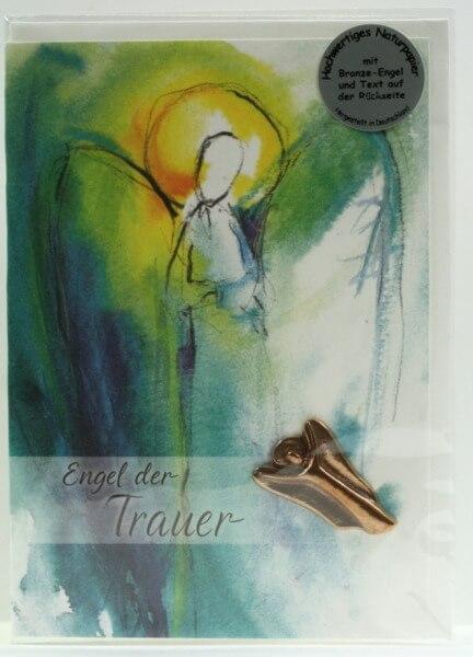 Trauerkarten - Bronzeengel der Trauer