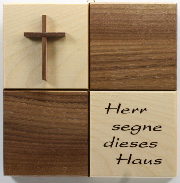 Haussegen - Kreuz & Quadrate