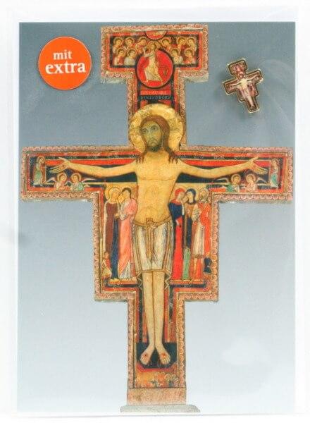 Neutrale Karte - San Damiano & Kreuz