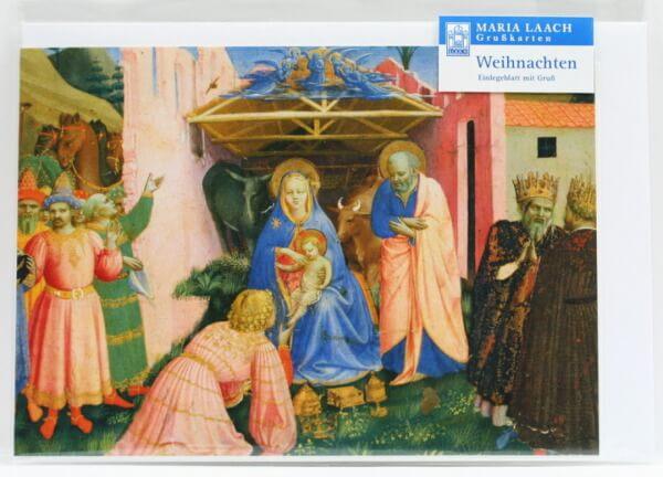 Weihnachtskarte - Anbetung der hl. Drei Könige & Fra Angelico