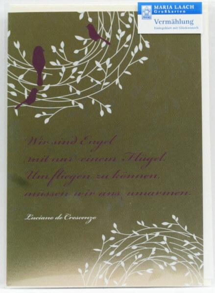 Vermählungskarte - Wir sind Engel mit nur einem Flügel