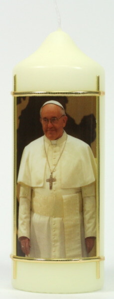 Tischkerze - Papst Franziskus
