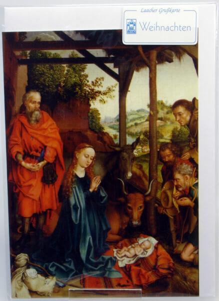 Weihnachtskarte - Jesu Geburt