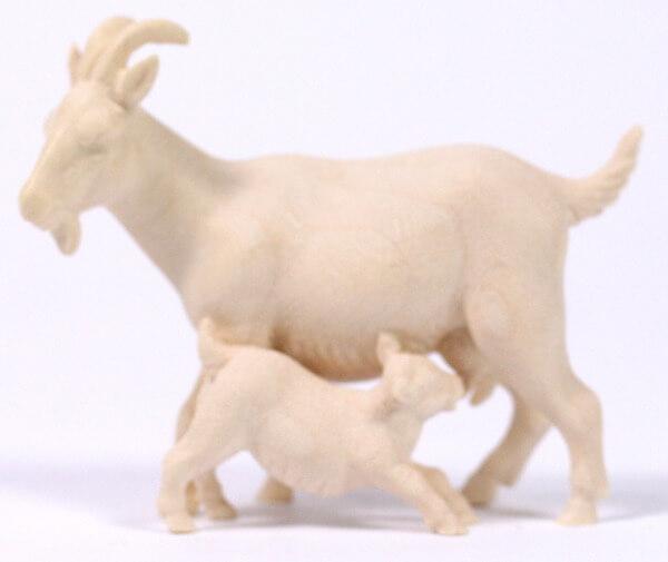 Heiland-Krippe - Ziege mit Zicklein