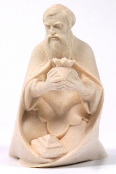 Heiland-Krippe - König weiß kniend