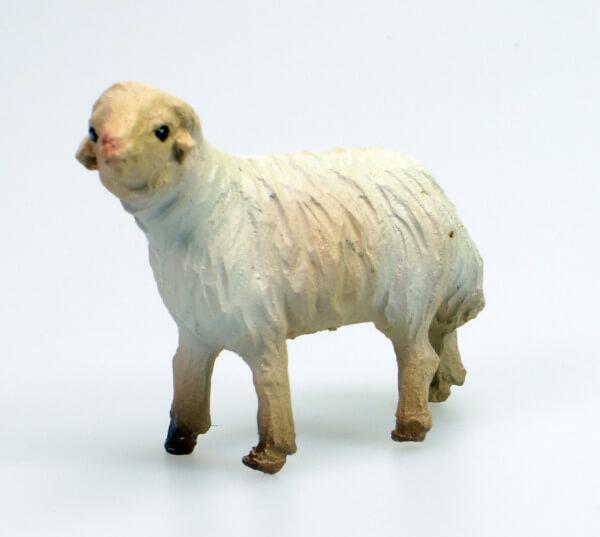 Künstler-Krippe - Schaf steh. Links