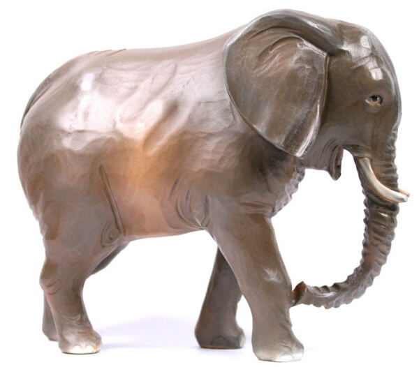 Ruco-Krippe - Elefant stehend ohne Decke