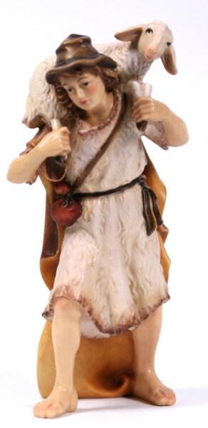 Kostner-Krippe - Hirt mit Schaf auf Schulter