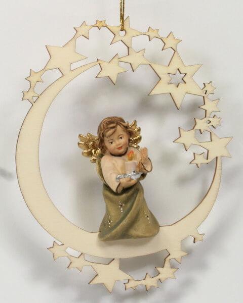 Baumschmuck - Sterne & Engel mit Kerze