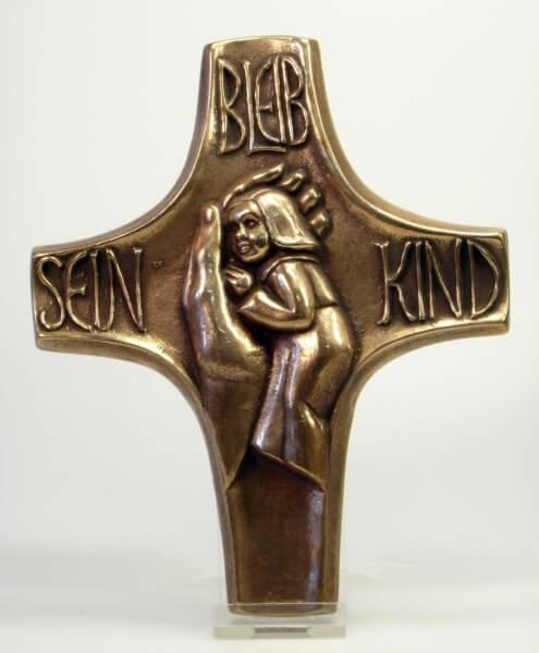 Bronzekreuz - Bleib sein Kind