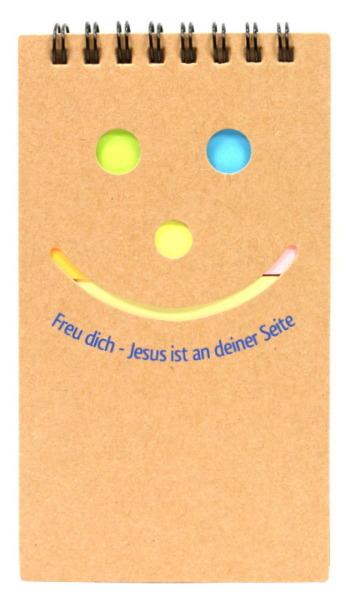 Notizblock - Smiley & Haftnotiz