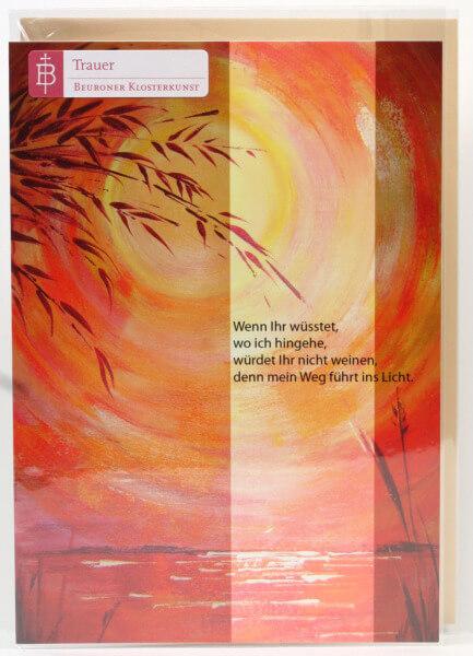 Trauerkarte - Der Weg ins Licht