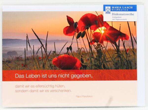 Karte zur Diakonatsweihe - Das Leben...