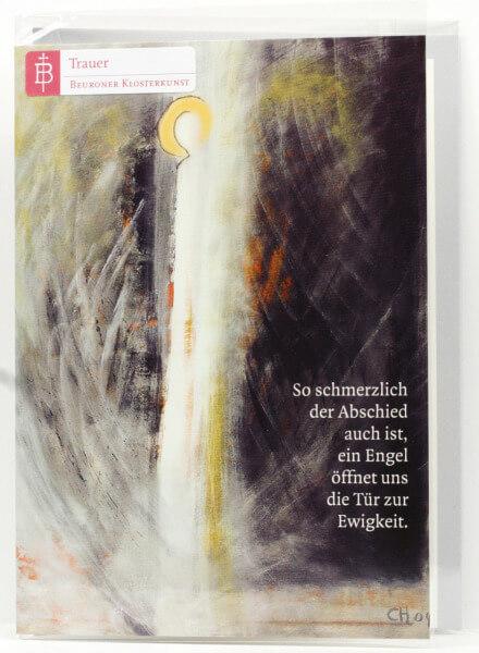 Trauerkarte - Engel & Tür zur Ewigkeit