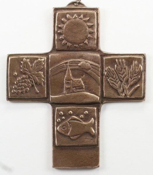 Kommunionkreuz - Glauben macht das Leben bunt