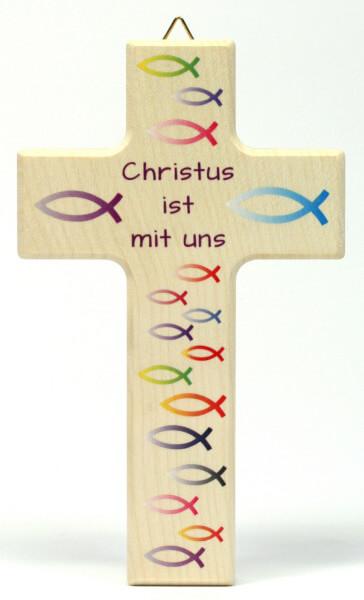 Kinderkreuz - Christus ist mit uns & Regenbogenfische