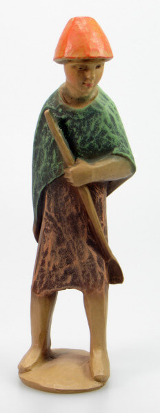 Gelenberg-Krippe - Hirt jung mit Stab - 18 cm