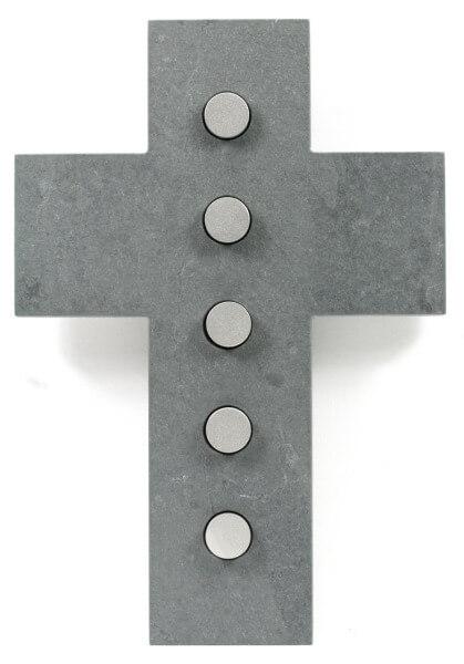 Schieferkreuz - Kreise & Edelstahl