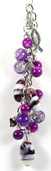 Armband - Violette Perlen & Fisch
