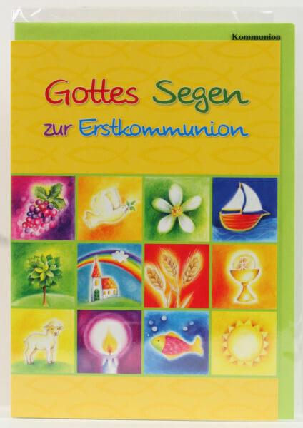 Kommunionkarte - Glauben macht das Leben bunt