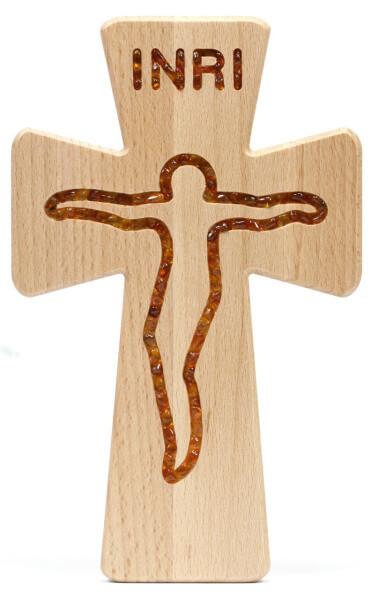 Holzkreuz - Jesus & Bernstein