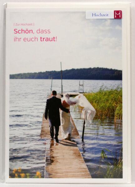 Hochzeitskarte - Schön, dass ihr euch traut