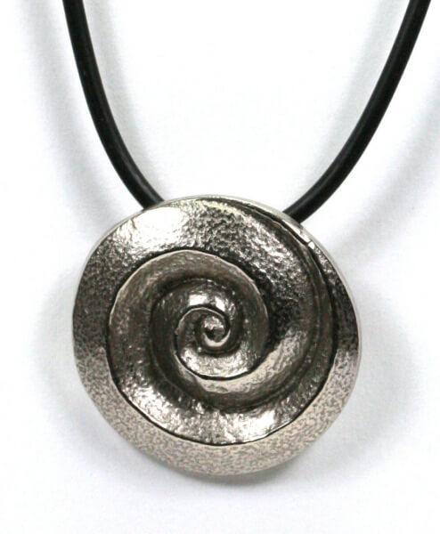 Halskette - Spirale & Silberbronze