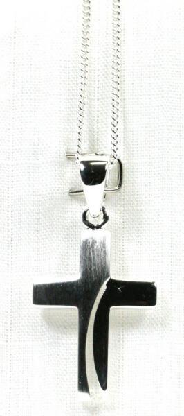 Halskette - Silberkreuz & Geschwungen