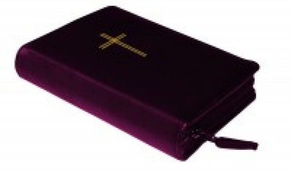 Gotteslobhülle - Grobleder mit Kreuz & Individuelle Namenslaserung