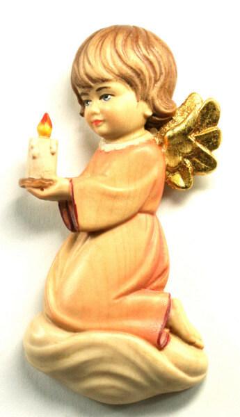 Holzengel - Engel mit Kerze & Rot