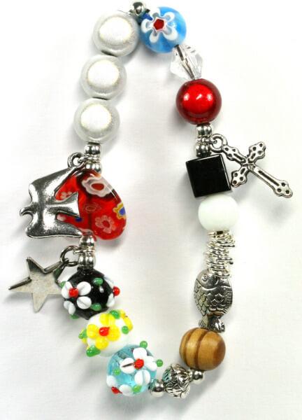 Armband - Das Leben Jesu & bunte Perlen
