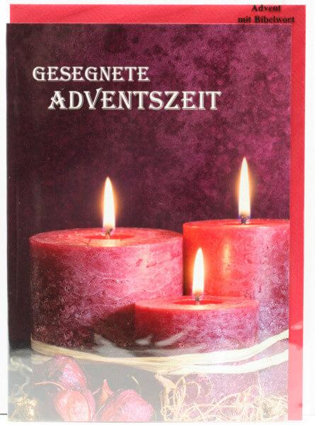 Karte zum Advent - Brennende Kerzen