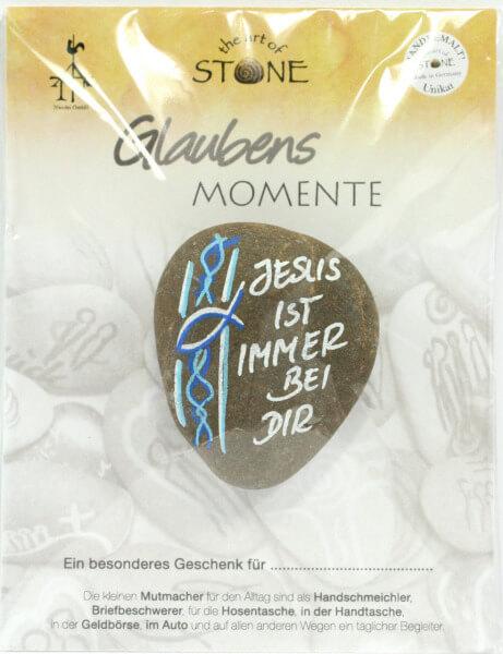 Handschmeichler - Jesus ist immer bei dir & Naturstein