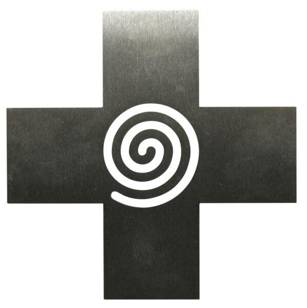 Edelstahlkreuz - Spirale