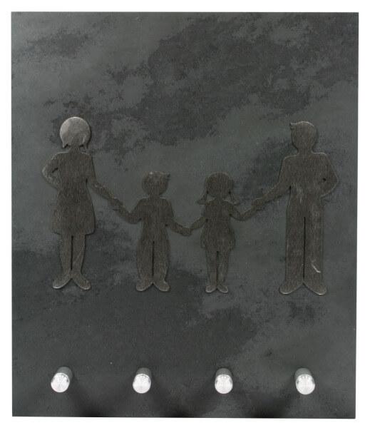 Schlüsselbrett - Familie & Schiefer