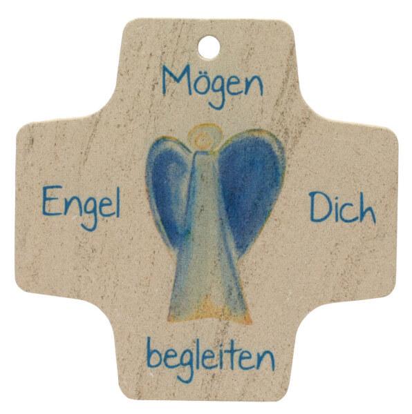 Kalksteinkreuz - Mögen Engel dich begleiten