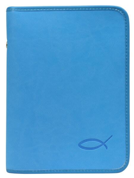 Gotteslobhülle - Kunstleder & Farbiger Fisch