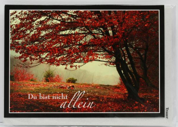 Trauerkarte - Du bist nicht allein & Bäume